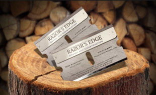 Die Cut Business Card - Razors Edge