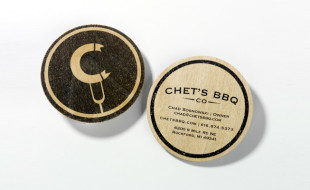 Round Business Cards - Chet's BBQ