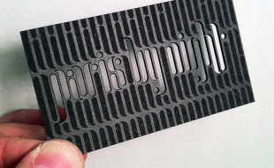 Unique Die Cut Business Card - Paris by Night