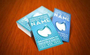 Cool Dentist Business Card Template