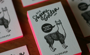 Unique Letterpress Business Card – Shyama Golden