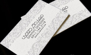 Unique Letterpress Business Card with Floral Motive