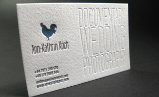 LetterPress Business Card – Ann-Kathrin Koch