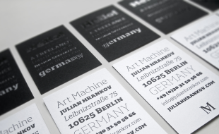 Cool Typography Business Card – Art Machine