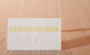 Letterpress Business Card – Redemption City Church