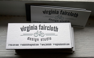 Letterpress Business Card – Virginia Faircloth