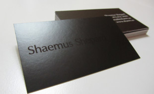 Cool Black Business Cards – Shaemus Shepard