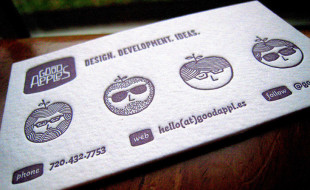 Fun Creative Letterpress Business Card – Good Apples