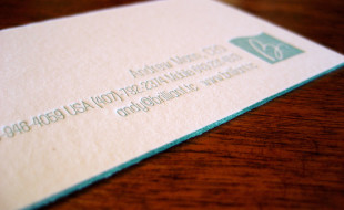 Letterpress Business Card – Brilliant