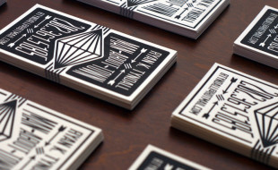 Black & White Letterpress Business Cards