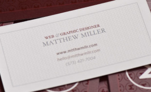 Unique Spot Gloss Business Card - Matthew Miller