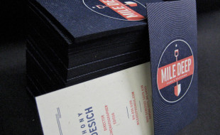 Cool Business Cards – Mile Deep