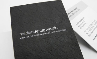 Cool Letterpress Business Card – Medien DesignWerk