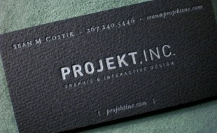 Cool Letterpress Business Card – Projekt Inc
