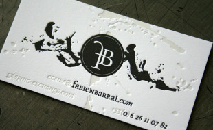 Cool & Unique Letterpress Business Card – Fabien Barral