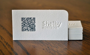 Unique LetterPress QR Business Card – Shelby Montross