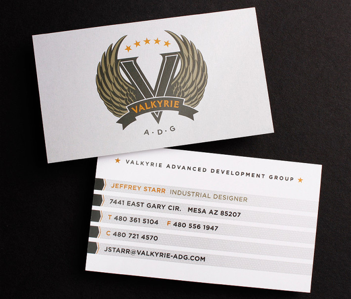 Cool Business Cards Valkyrie