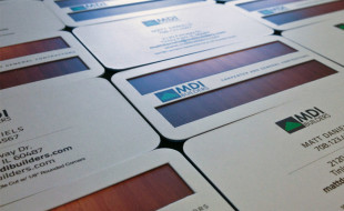 Die-Cut Layered Business Cards – MDI Builders