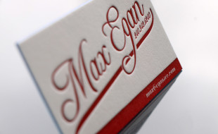Letterpress Business Card – Max Egan