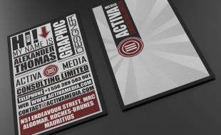 Typo Business Card Template Design