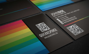 Business card templates cardrabbit cool business card template with qr code reheart Images