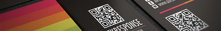 Cool Business Card Template with QR Code
