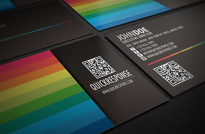 Stylish business card template cardrabbit cool business card template with qr code cheaphphosting Choice Image