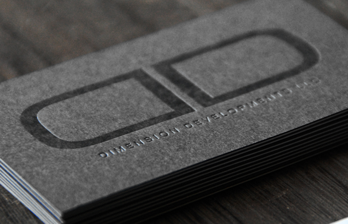 Cool letterpress business card dimension developments inshare reheart Image collections