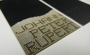 Laser Cut Business Card - Johann Peter Ruport