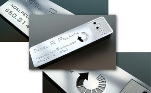 Stainless Steel Business Card – Noel R Pelavin