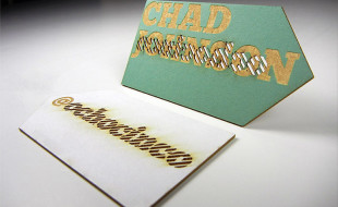 Cool Laser Cut Business Card - Chad Johnson