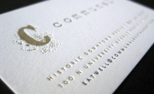 Cool Letterpress Business Card - Communal