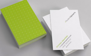Creative Minimalistic Business Cards – Student Upstarts