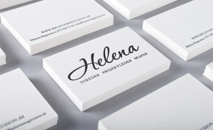 Minimalistic Letterpress Business Card – Helena Magnusson