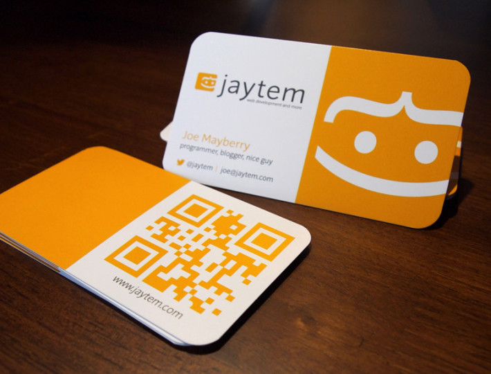Cool QR Code Business Cards – Joe Mayberry | CardRabbit.com