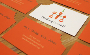 Die Cut Business Card - Feeding The Self