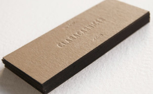 Letterpress Business Card – Clara Carnicer