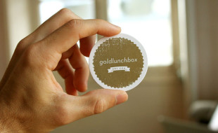 Round Business Card – GoldLunchBox