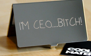 Unique Business Card Holder - I'm CEO B*TCH