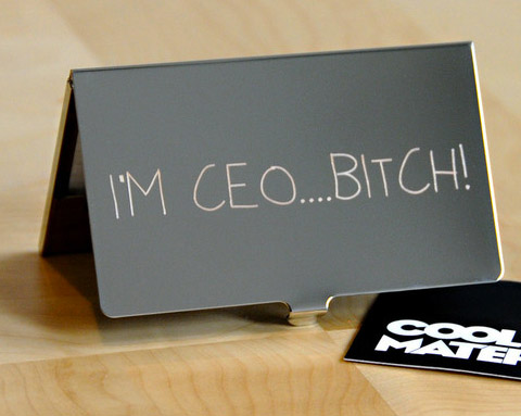 Unique business card holder im ceo btch cardrabbit inshare colourmoves