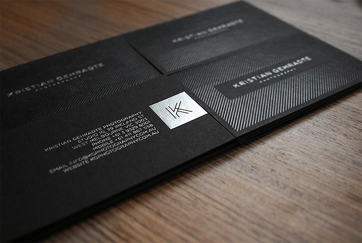Cool business cards kristian gehradte photography for Cool photography business card
