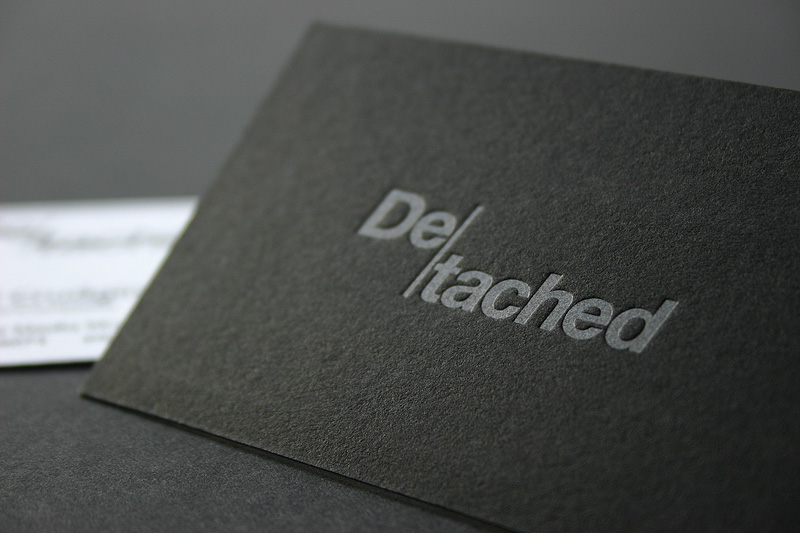 Cool letterpress business card denim geek cardrabbit cool letterpress business card de tached colourmoves Gallery