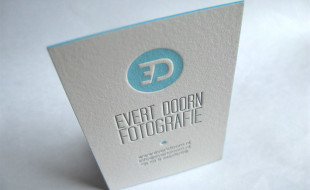 Cool Letterpress Business Card – Evert Doorn