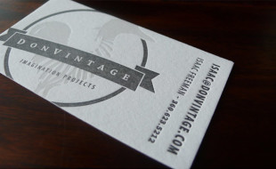 Creative Letterpress Business Card – DonVintage