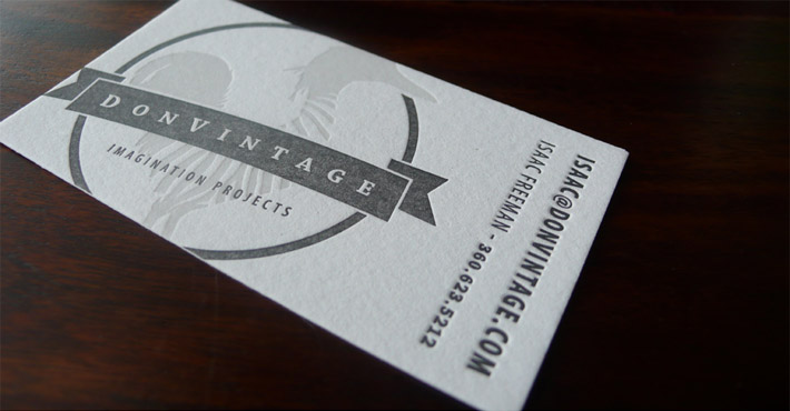 Creative letterpress business card donvintage cardrabbit inshare reheart Image collections