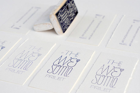 Hand Stamped Business Card Awesome Project Cardrabbit