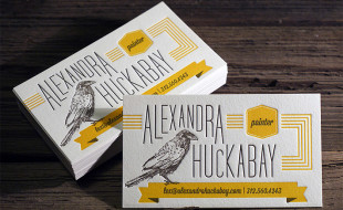 Creative Letterpress Business Card - Alexandra Huckabay