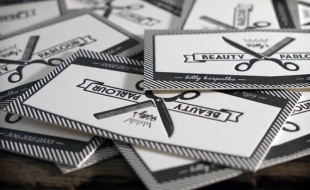 Letterpress Business Cards – Kitty's Beauty Parlour