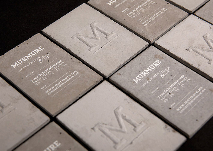 Coolest most unique business cards ever made of concrete theyve created cool business cards colourmoves