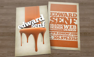 Unique Business Card Design - Edward Senf
